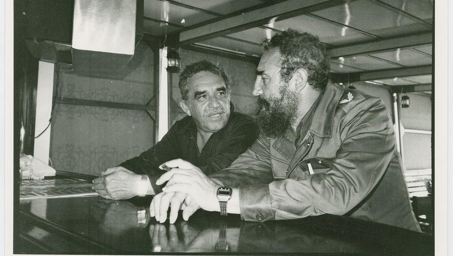 Gabriel Gracía Márquez y Fidel Castro