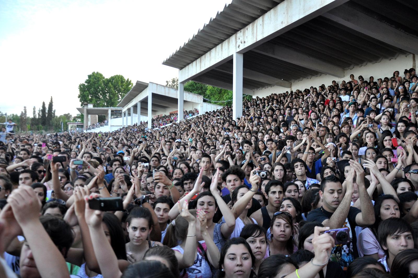 Público en el hipódromo